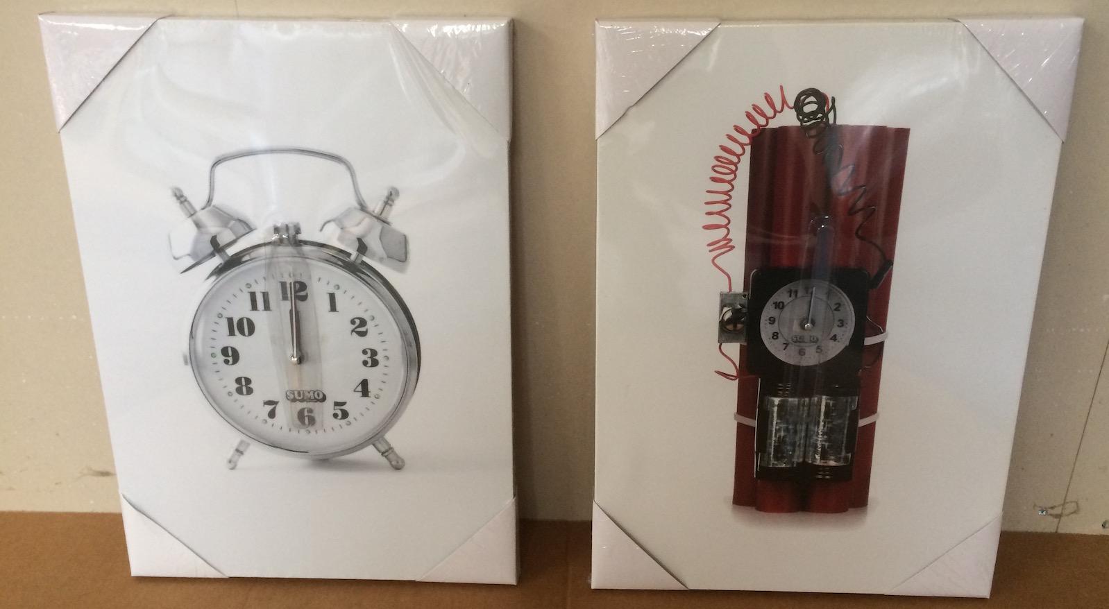 Canvas Boom clock