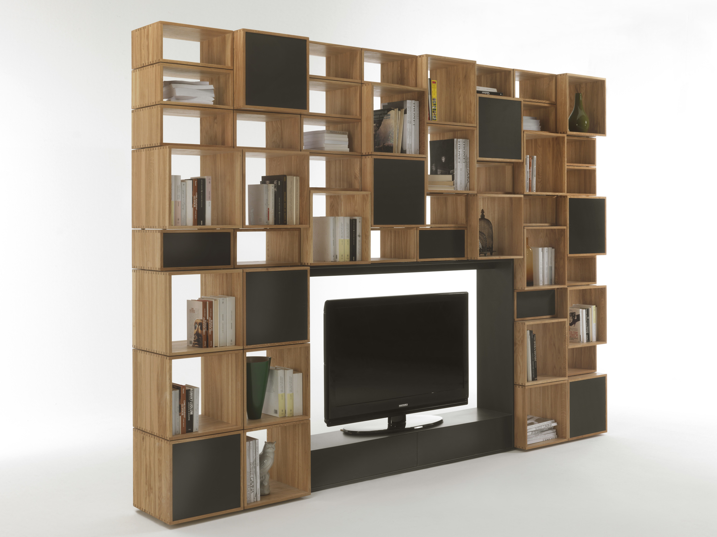 sideboard living bookcases canyonoak tv oak itm canyon room dark bookcase table unit storage furniture