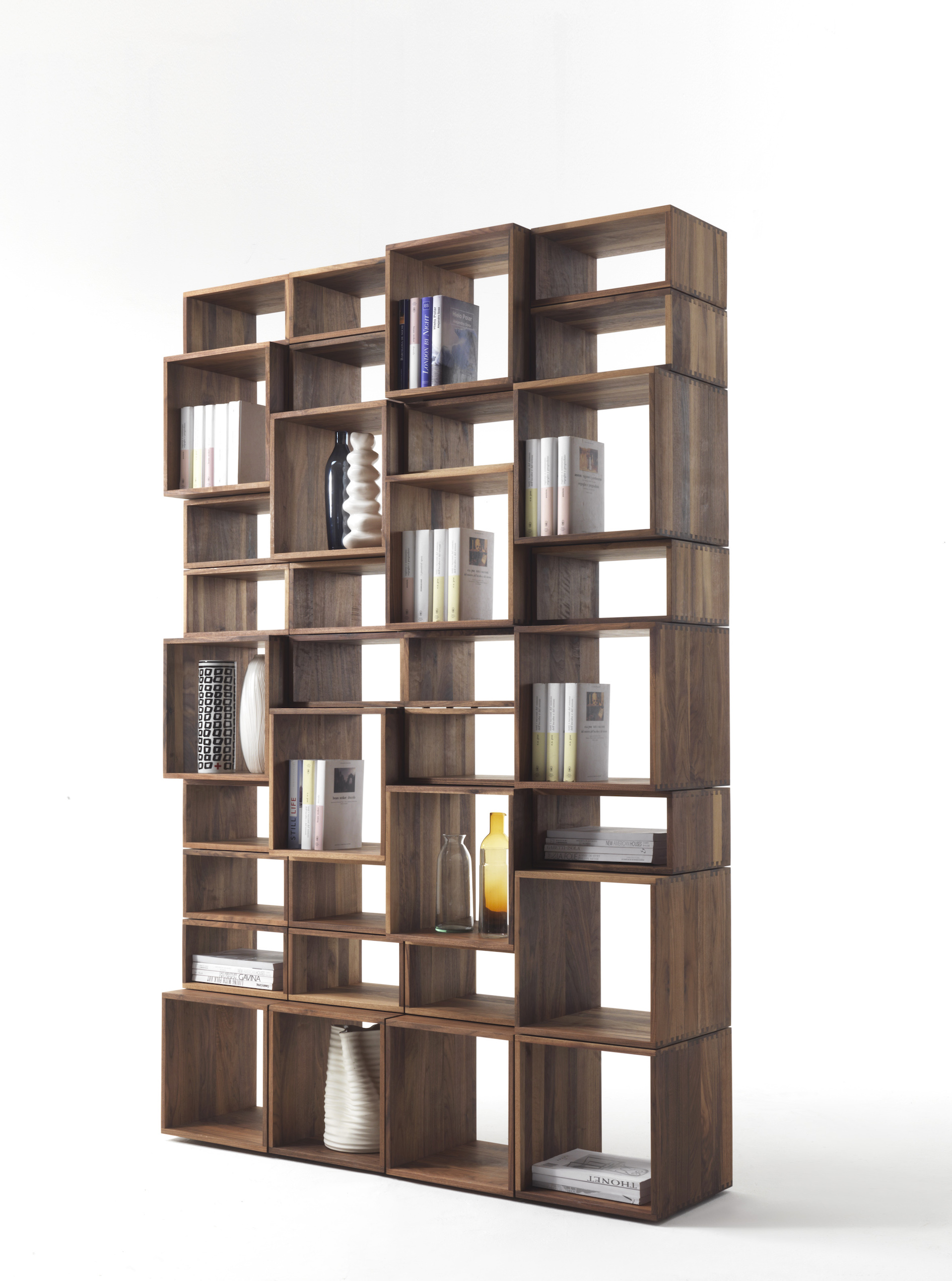 desk  home office  freedom bookcase - freedom bookcase in walnut project  image