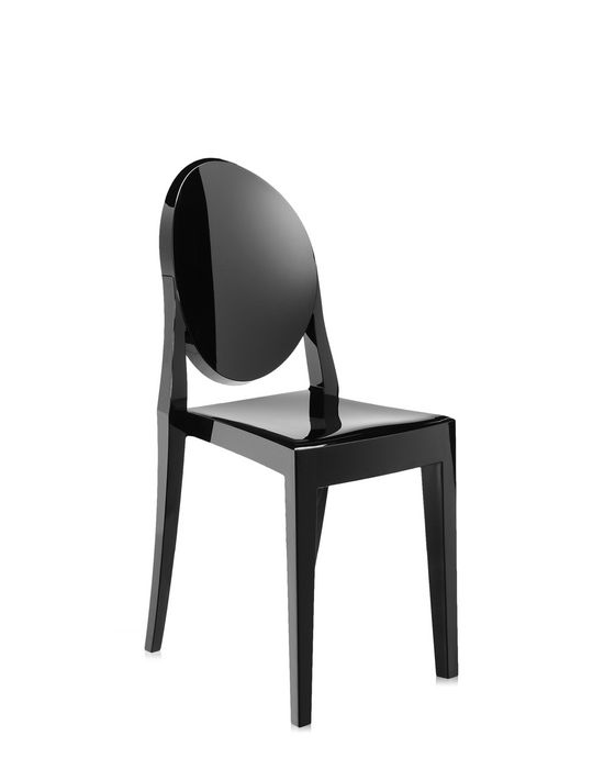 Victoria Ghost Chair In Solid Black