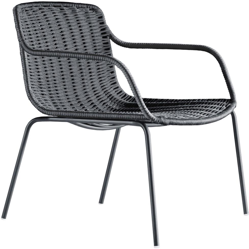Lapala Low Chair. Woven Outdoor Low Chair