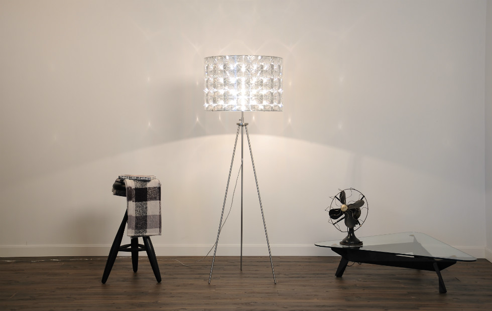 Floor lamps lighthouse tripod the lighthouse tripod floor light with 60x40 shade aloadofball Images