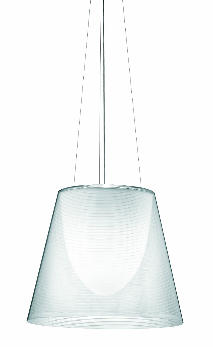 KTribe S3 ceiling light, with transparent finish