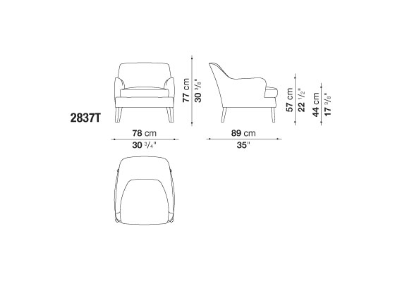 Armchairs: Febo Low Bergere