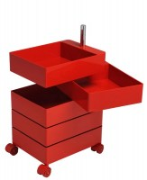 Small 360 Container in glossy red