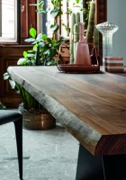 AX dining table - natural edged wood