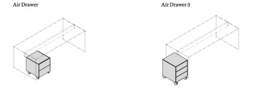 Air Drawer with two drawers_How to locate