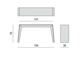 The Asya console table dimensions