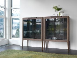 Atlante 2 cupboards with glass doors