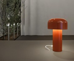 Bellhop portable table light in Brick Red