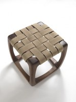 Bungalow stool in walnut from Riva 1920
