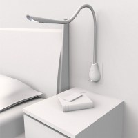 Cobra wall light in white leather - main image