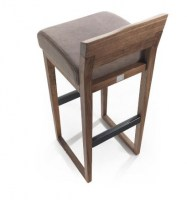 Dino stool with leather seat from Riva1920