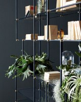 Drizzle bookshelf - black and brass