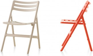 Folding air chair beige orange