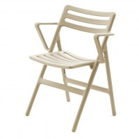 Folding Air Chair with Arms, beige