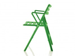 Folding Air Chair with Arms, green