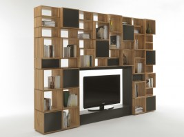 FREEDOM TV Bookcase in Oak_main image