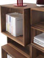 Freedom bookcase in walnut detail image_2