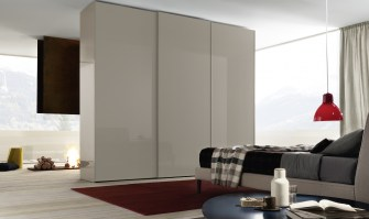 Jesse Icona Sliding Door in Tortora lacquer_full