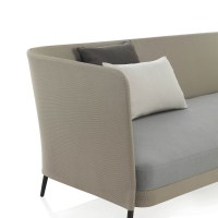 Kabu sofa in sling Sunbrella outdoor fabric
