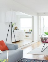 Rosy Angelis tripod shape floor lamp from Flos