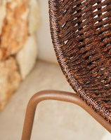 Lapala chair detail in 108 FT oxide textured frame