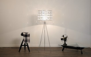 The Lighthouse Tripod Floor light with 60x40 shade