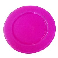 Love plate, large plate in Raspberry