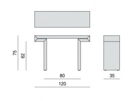 Miyabi console table dimensions