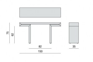 Miyabi console table dimensions continued