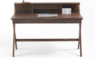NAVARRA Desk in Walnut with upstand_crop