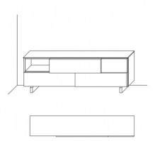 Jesse Open sideboard composition O-19 drawing layout