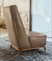Opera armchair with high back