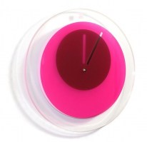 Orbit clock in pink