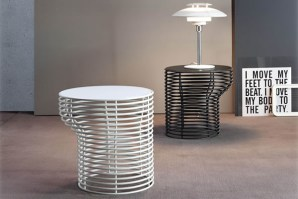 Orion tables in grey and white with ceramic tops