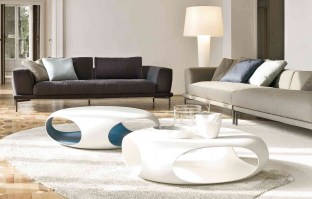 Pebble coffee table with Marc-U sofa
