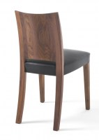 Pimpinella Nuvola in walnut with black leather seat_2