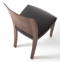 Pimpinella Nuvola in walnut with black leather seat_3