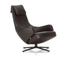 Repos armchair from Vitra, leather upholstery.