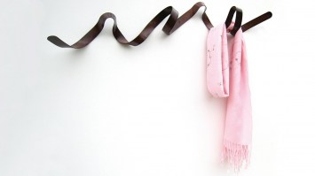 Ribbon hooks by headsprung - weathered bronze finish