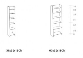 Olympia shelving dimensions
