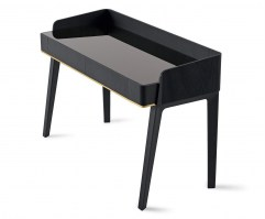 Soho dressing table with bright black glass