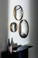 Sail mirror from Sovet Italia - burnished brass finished frame
