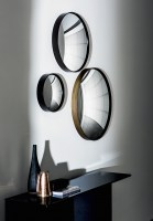Sail mirror from Sovet Italia - small with mocha brass frame