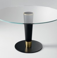 Upside 14 glass top table