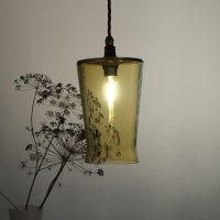 Waisted Pressed pendant light honey
