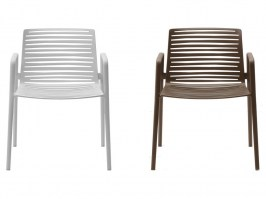Zebra arm chairs_white and brown