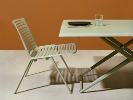 Zebra Up & Down table - tea green finish - up