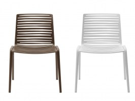 Zebra side chairs_creamy white and dark brown